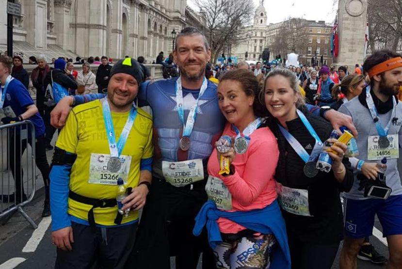 Steve Jones, charity run for Cancer Research