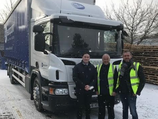 "The ""Beast from the East"" brought a smile to Steve Jones & Mark Wills' faces at Europoint, North"