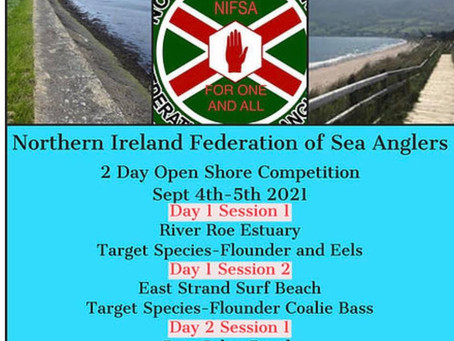Our annual NIFSA 2 Day Open Shore Festival is now open for entries