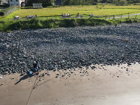 Short clip of a session on Waterfoot at the bottom of B zone