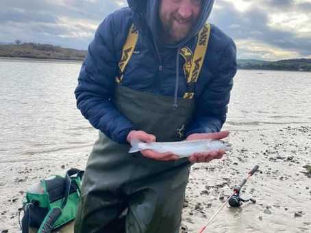 NIFSA member Karl Rooney finally got started on the sea trout