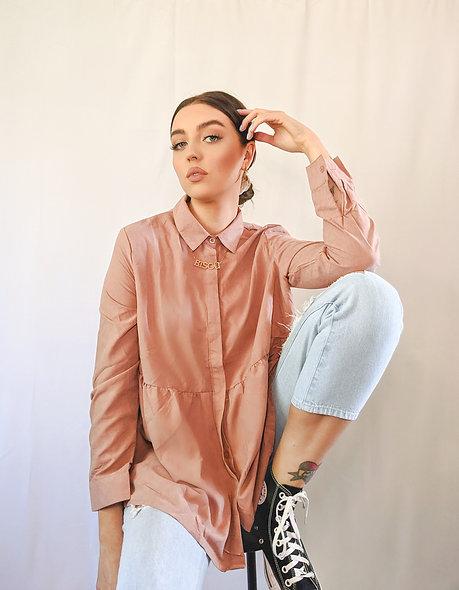 Smocked Shirt Top
