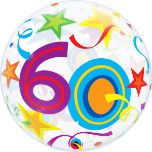 60 Brilliant Stars Bubble Balloon