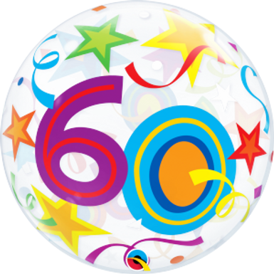 60 Brilliant Stars Bubble Balloon