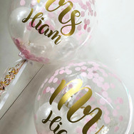 Personalised Mr and Mrs Bubble Balloons
