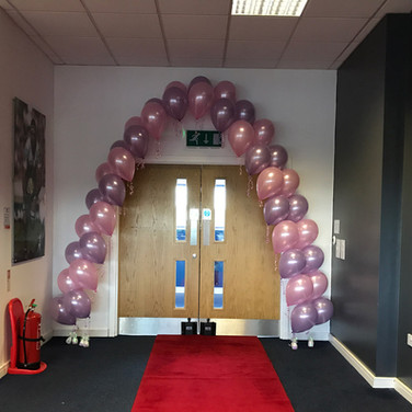 Double single line balloon arch