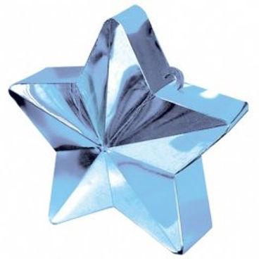 Light Blue Star Balloon Weight
