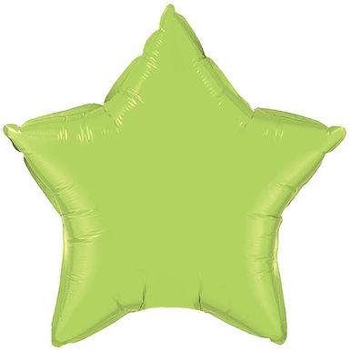 Lime Green 18 inch Star Foil Balloon