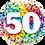 "Thumbnail: 50 Rainbow Confetti 18"" Foil"