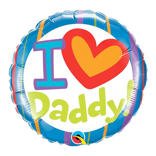I Love Daddy 18inch Foil Balloon