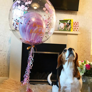 Marble and Confetti Bubble Balloon