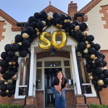 50th Birthday Doorway Decoration