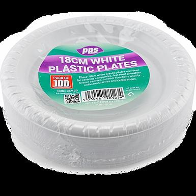 100pcs 18cm White Plates