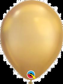 """Chrome Gold Latex 11"""" Balloon"""