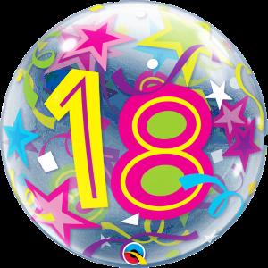 18 Brilliant Stars Bubble Balloon