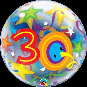 30 Brilliant Stars Bubble Balloon