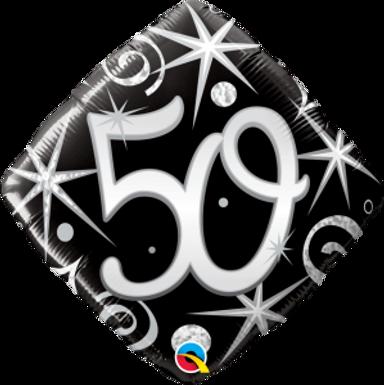 "50 Elegant Sparkles & Swirls 18"" Foil Balloon"
