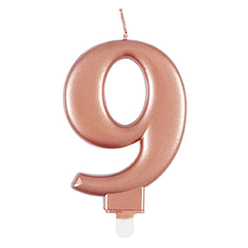 Rose Gold Number 9 Candle