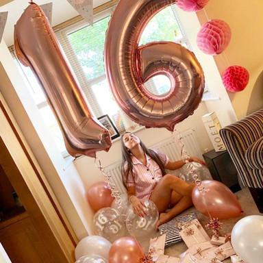 16th Birthday balloon display