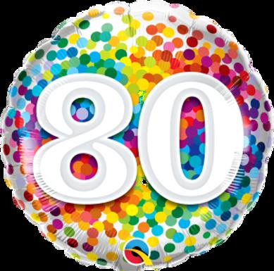 """80 Rainbow Confetti 18"""" Foil"""