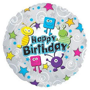 Happy Birthday Monsters Balloon