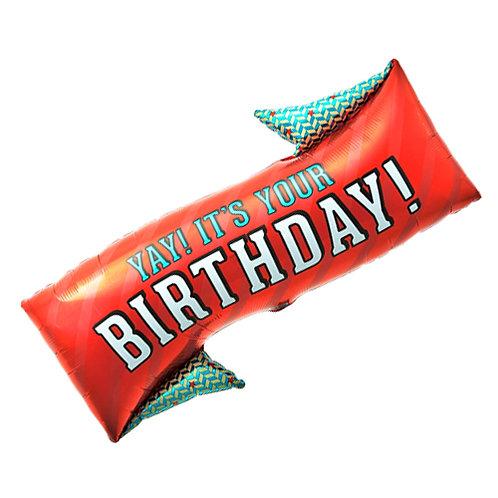 Yay it's your Birthday Supershape Balloon