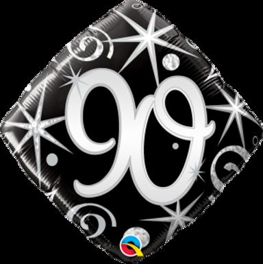 "90 Elegant Sparkles & Swirls 18"" Foil Balloon"