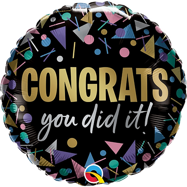 "Metallic Dots Congrats You Did It! 18"" Foil Balloon"