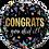 "Thumbnail: Metallic Dots Congrats You Did It! 18"" Foil Balloon"
