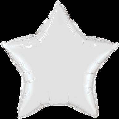 White 18 inch Star Foil Balloon