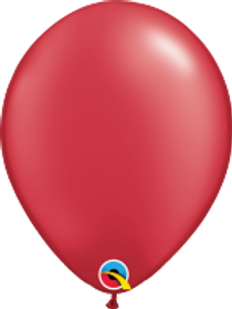 "Pearl Ruby Red 11"" Latex Balloon"