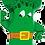 "Thumbnail: Broccoli 34"" Foil Balloon"