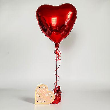 """Be My Valentine"" Heart Card & Balloon Combo"