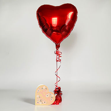 """Be My Valentine"" Heart Card & Balloon Combo"