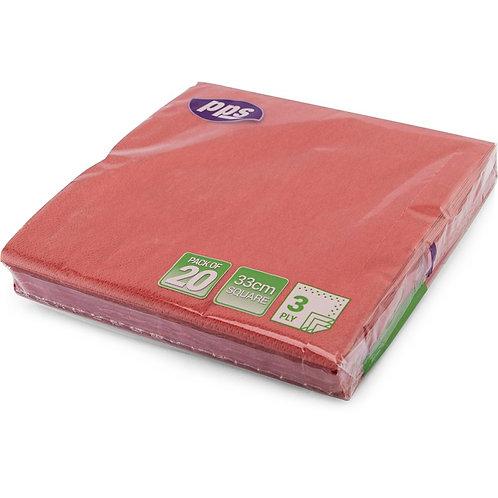 33cm 3ply Napkins Red
