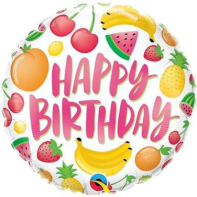 "Birthday Fruits 18"" Foil Balloon"