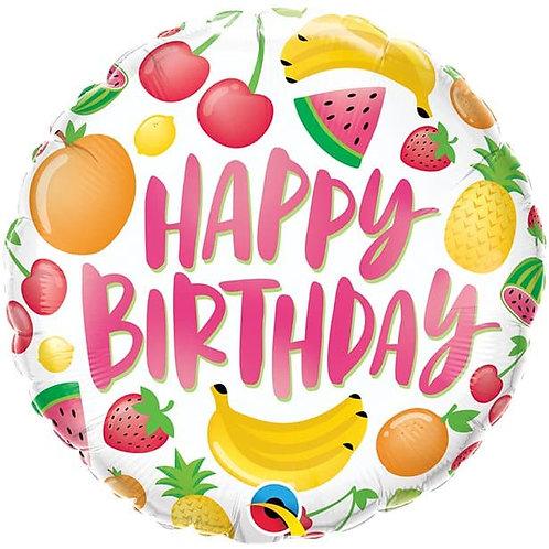 Happy Birthday Fruit Balloon