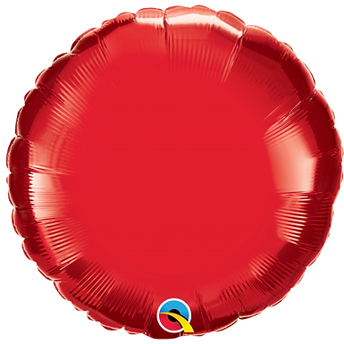 Red 18 inch Circle Foil Balloon