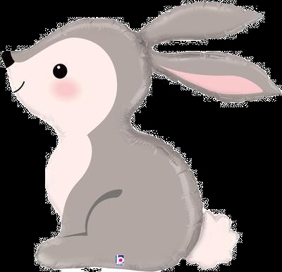 """Woodland Bunny 36"""" Foil Balloon"""