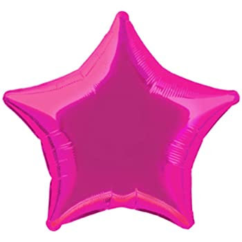 Hot Pink 18 inch Star Foil Balloon