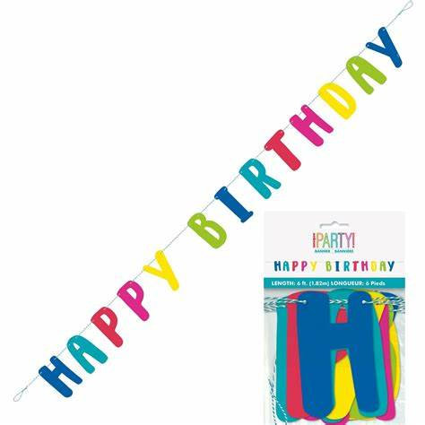 Multi-Coloured Happy Birthday Banner