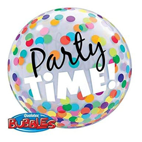 Party Time! Colorful Dots Bubble Balloon