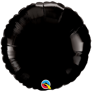 Black 18 inch Circle Foil Balloon