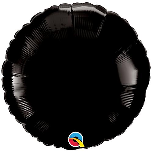 Black 18 inch Circle Foil Balloon