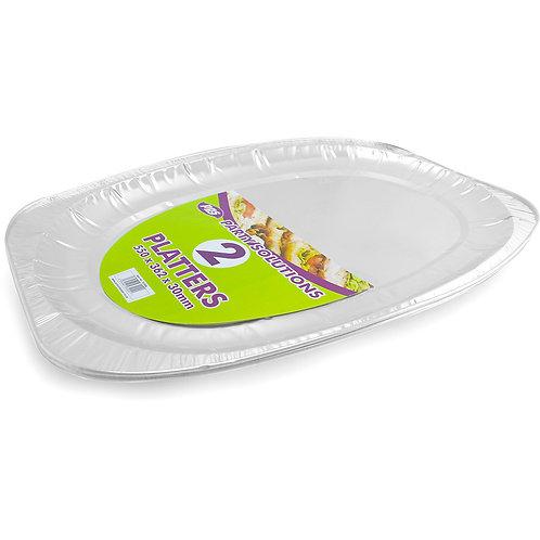 Foil Platters Large 550x362x30mm