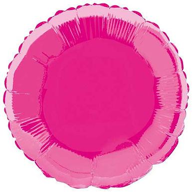 Hot Pink 18 inch Circle Foil Balloon