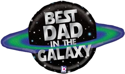 """Best Dad In The Galaxy 31"""" Foil Balloon"""