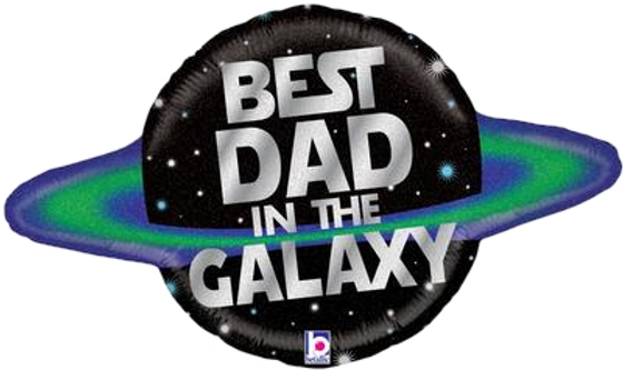 "Best Dad In The Galaxy 31"" Foil Balloon"