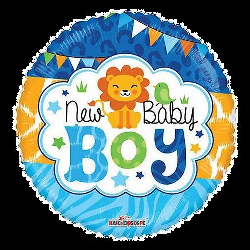"""New Baby Boy 18"""" Round Foil Balloon"""