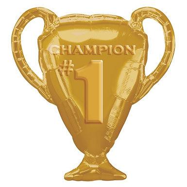 Gold Trophy Champion Shape Foil Balloon